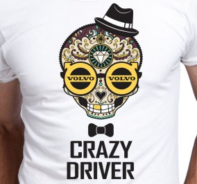 T-shirt Men Crazy Driver Volvo