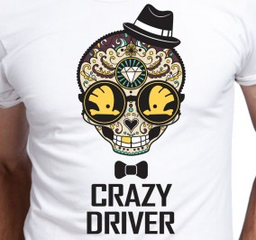 T-shirt Men Crazy Skoda Driver