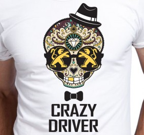 T-shirt Men Crazy Peugeot Driver