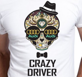 T-shirt Men Crazy Audi Driver