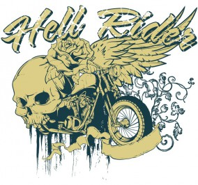 T-shirt Damski Hell Riders