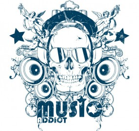 T-shirt Damski Music Addict