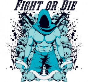 T-shirt Damski Fight Or Die