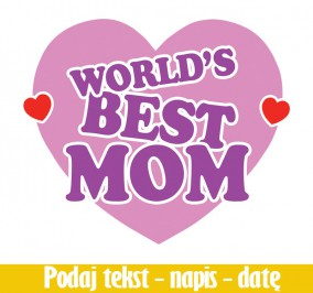 T-shirt Damski World Best Mom