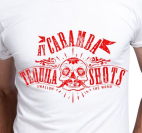 T-shirt Men Tequila Shots