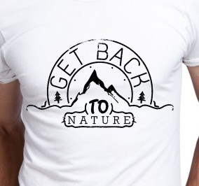 T-shirt Męski Get Back To Nature