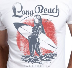 T-shirt Męski Long Beach