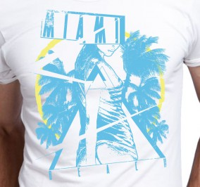 T-shirt Męski Miami Beach