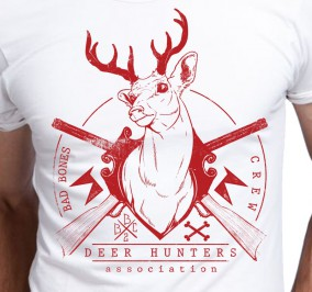 T-shirt Męski Deer Hunters