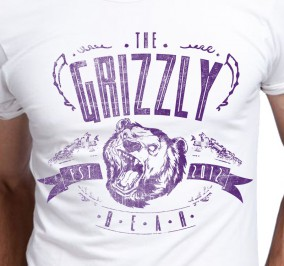 T-shirt Męski Grizzly Bear