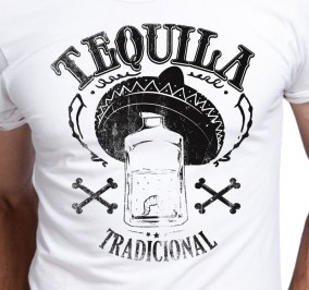 T-shirt Men Tequila Z Robakiem
