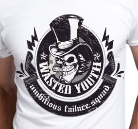 T-shirt Men Wasted Youth