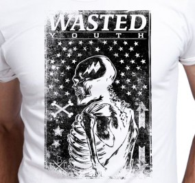 T-shirt Men Wasted
