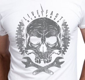 T-shirt Męski Mechanic Skull
