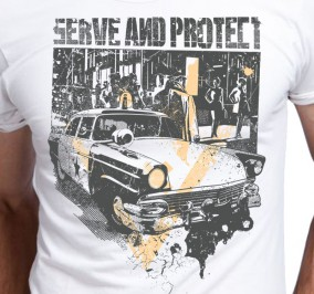 T-shirt Męski Serve And Protect