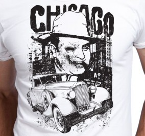 T-shirt Męski Chicago Car