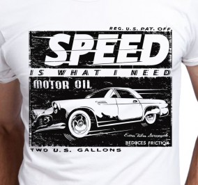 T-shirt Męski Speed Motor Oil