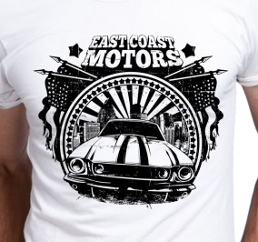 T-shirt Męski East Coast Motors