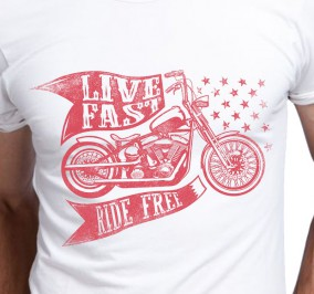 T-shirt Męski Ride Free Motors