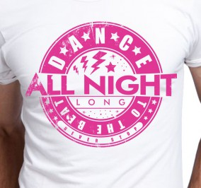 T-shirt Męski Dance All Night