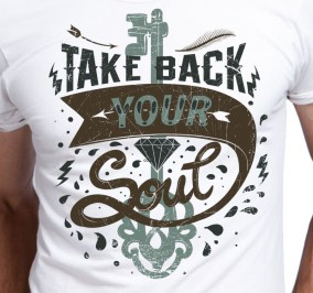 T-shirt Męski Take Back Your Soul