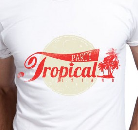 T-shirt Męski Tropical Party