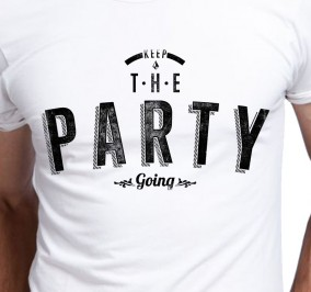 T-shirt Męski Party Going