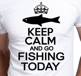 T-shirt Męski Keep Calm Fishing