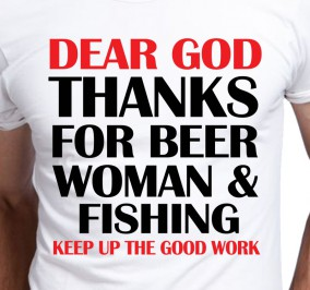 T-shirt Men Beer Women Fishing