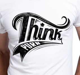 T-shirt Męski Think Porn