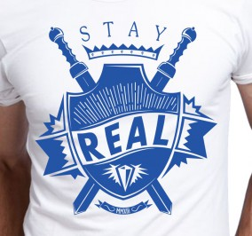 T-shirt Męski Stay Real