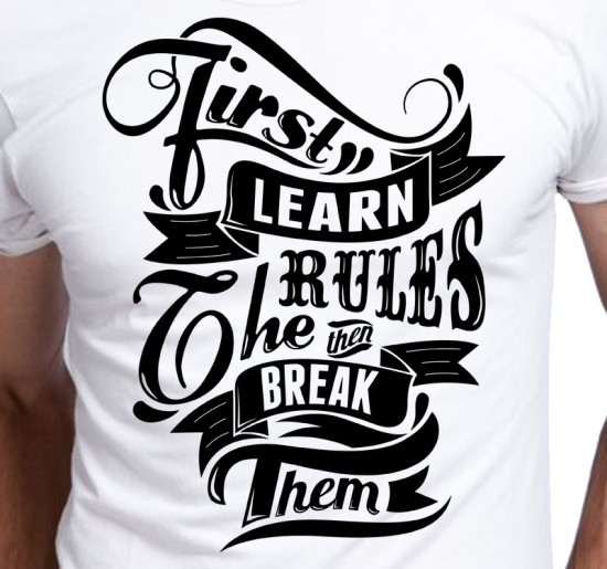 T-shirt Męski First Learn Rules
