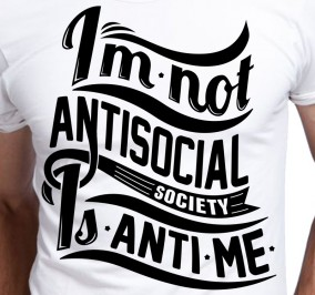 T-shirt Męski Im Not Antisocial
