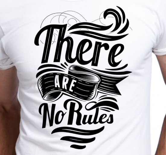 T-shirt Męski There Are No Rules