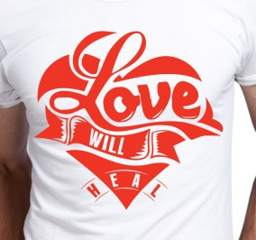 T-shirt Męski Love Will Heles