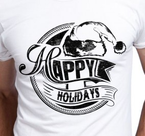 T-shirt Męski Happy Holidays