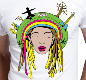 T-shirt Men Reggaeman