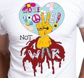 T-shirt męski Make Love Not War