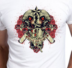 T-shirt men Blood And Poses