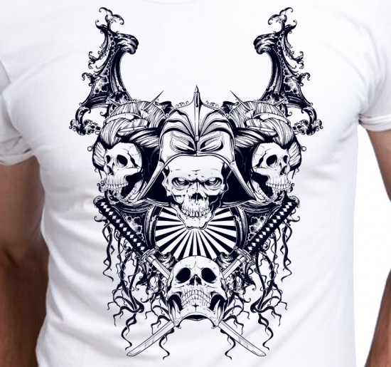 T-shirt men Stylowa Grafika Czaszki