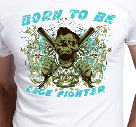 T-shirt męski Cage Fighter