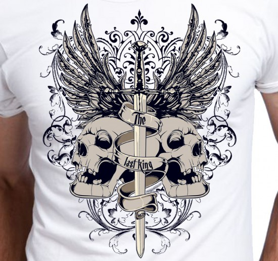 T-shirt męski Czaszki The Last King