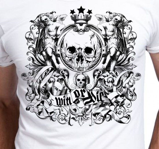 T-shirt męski Win Or Die