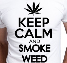 T-shirt Men Keep Calm And Smoke Weed