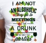 T-shirt męski I am not Alcoholik