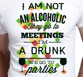 T-shirt Men I am not Alcoholik