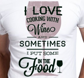 T-shirt męski I Love Wine