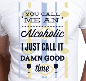 T-shirt męski You call me an alcoholic