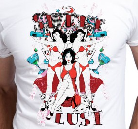 T-shirt men Lust Słodka Żądza