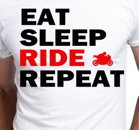 T-shirt Men Eat Sleep Ride Repeat